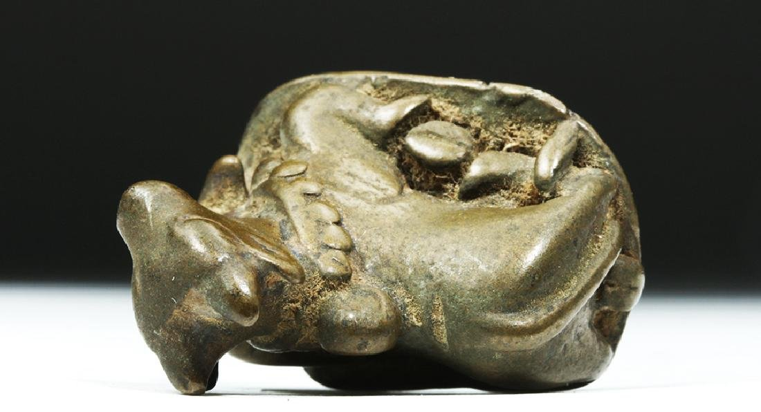 19th C. Indian Bronze Nandi, the Bull of Shiva - 6
