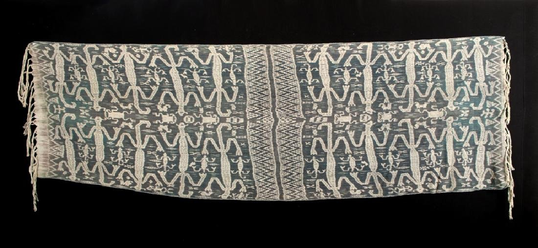 20th C. Indonesian Fabric Ikat Cloth - Frogs & Lizards