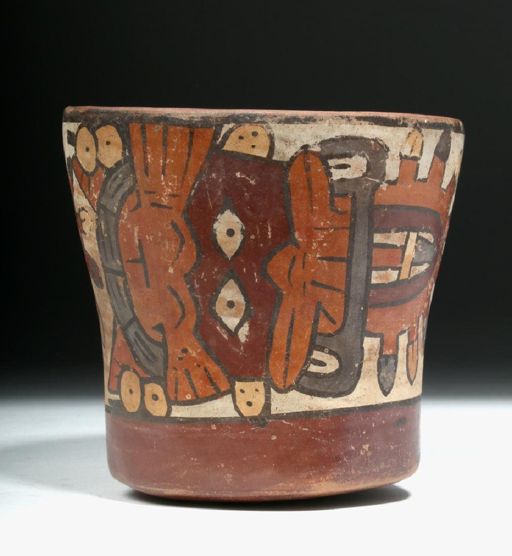Nazca Pottery Kero - Underworld Feline