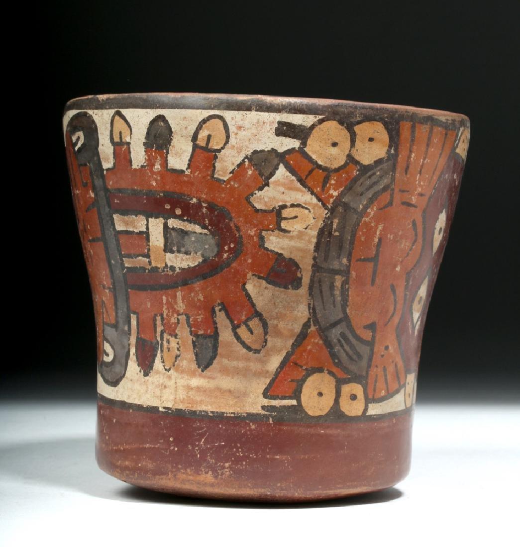 Nazca Pottery Kero - Underworld Feline - 2