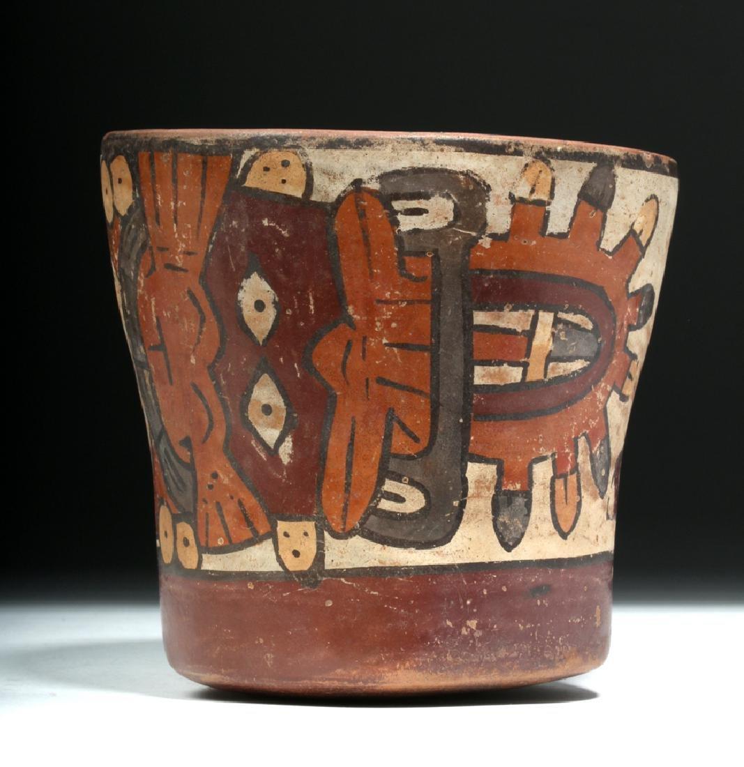 Nazca Pottery Kero - Underworld Feline - 5