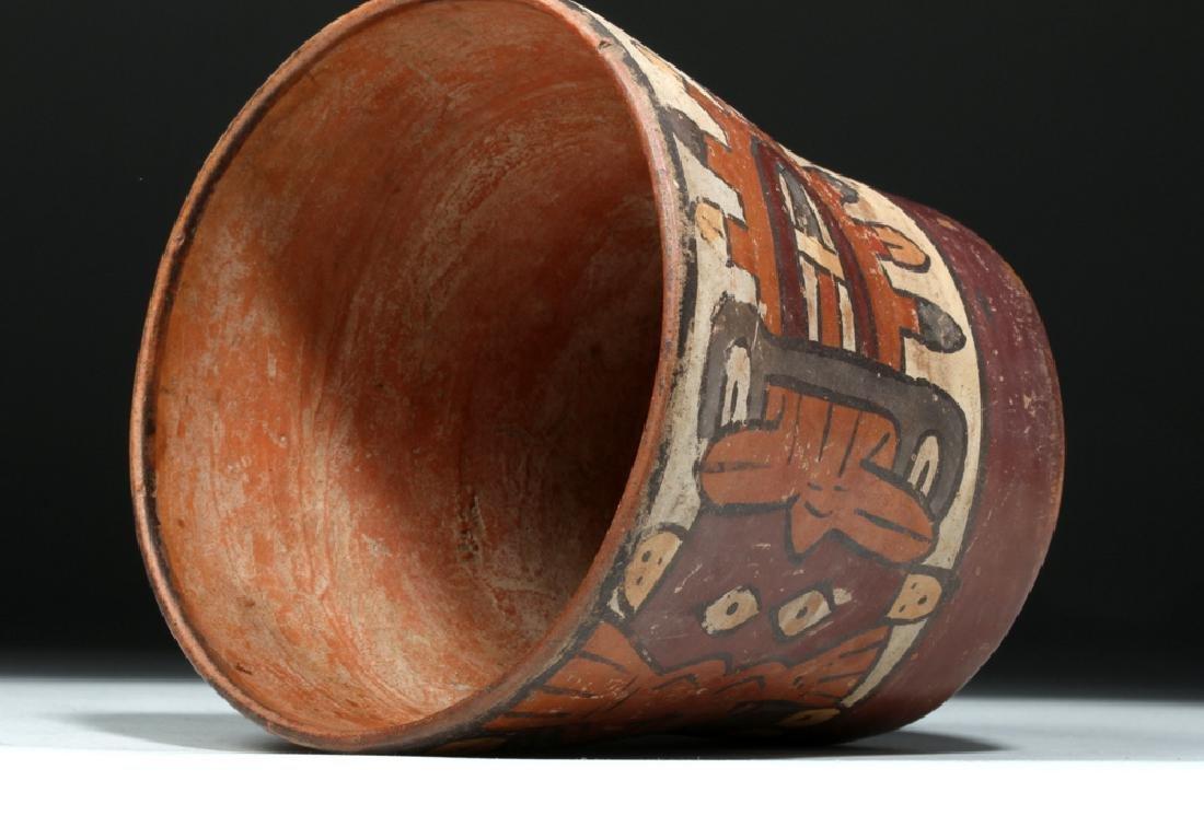 Nazca Pottery Kero - Underworld Feline - 6