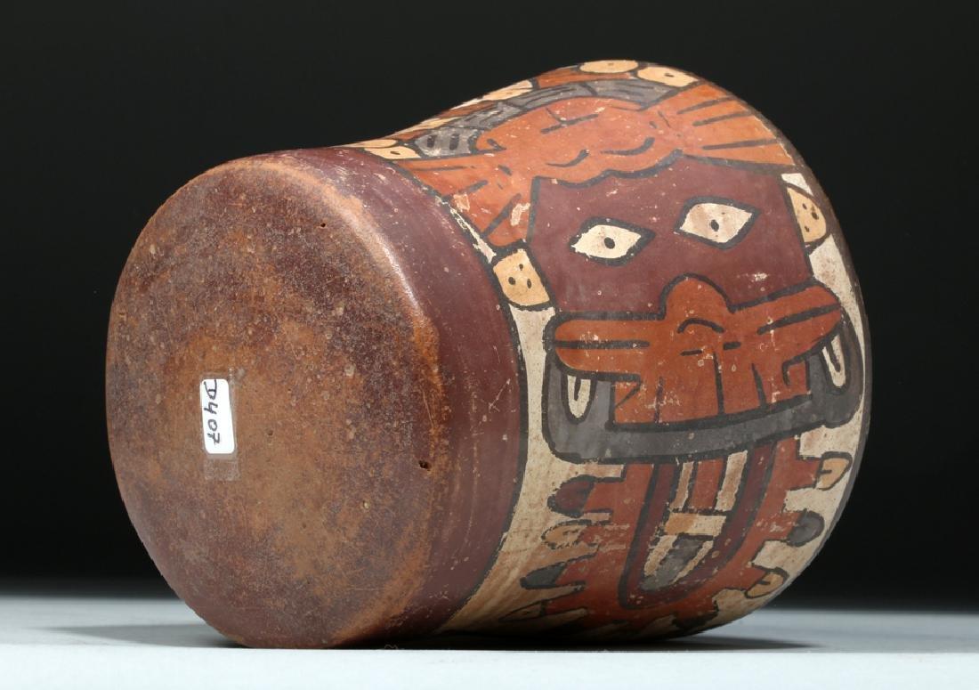 Nazca Pottery Kero - Underworld Feline - 7