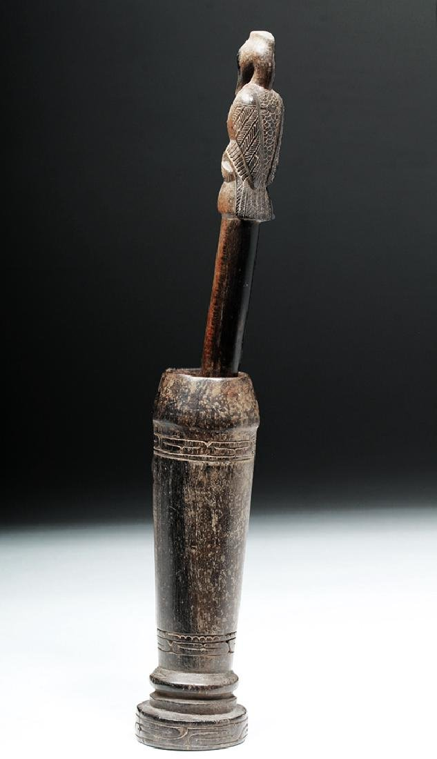 South Pacific Wooden Betel Nut Pounder - Bird - 2
