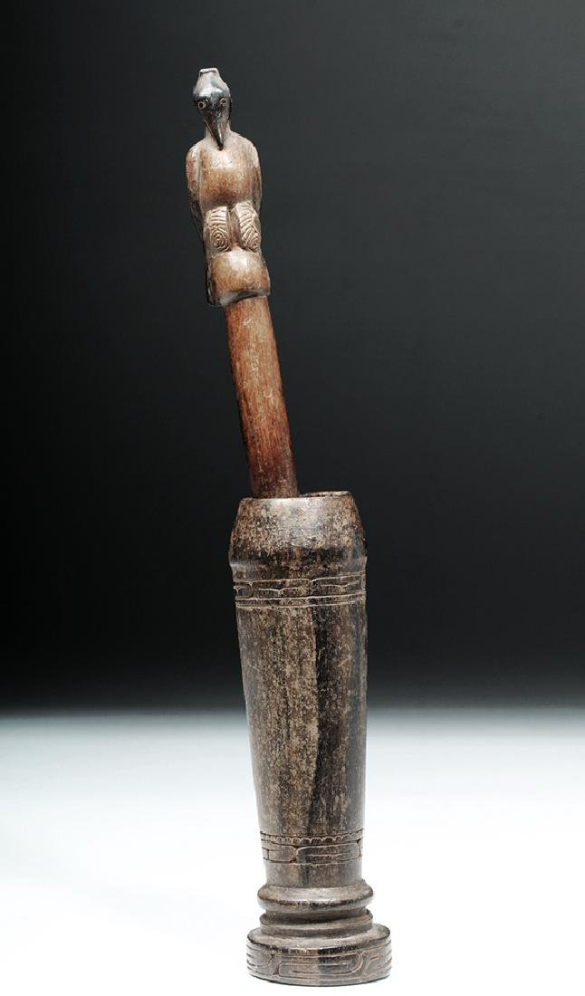 South Pacific Wooden Betel Nut Pounder - Bird - 4