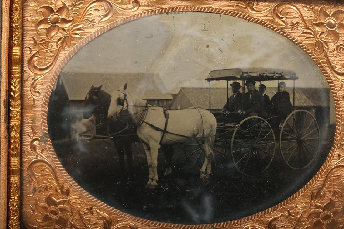 19th C. American Two Ambrotypes w/ Horses - 3