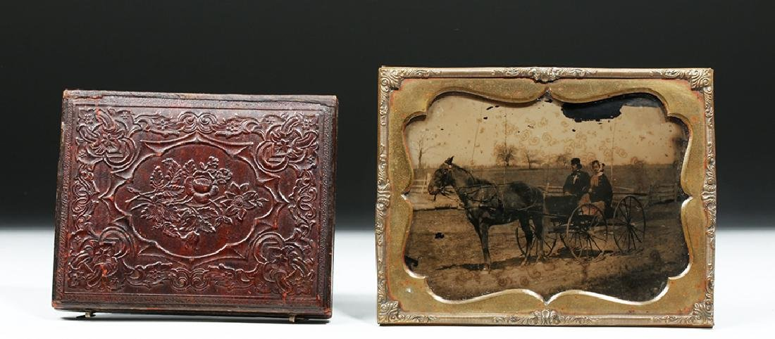 19th C. American Two Ambrotypes w/ Horses - 4