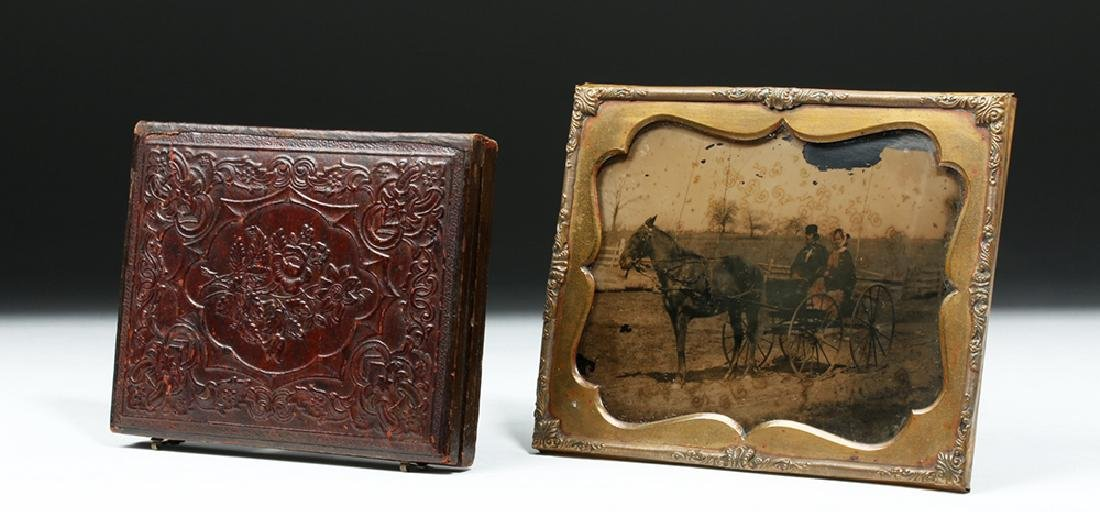 19th C. American Two Ambrotypes w/ Horses - 5