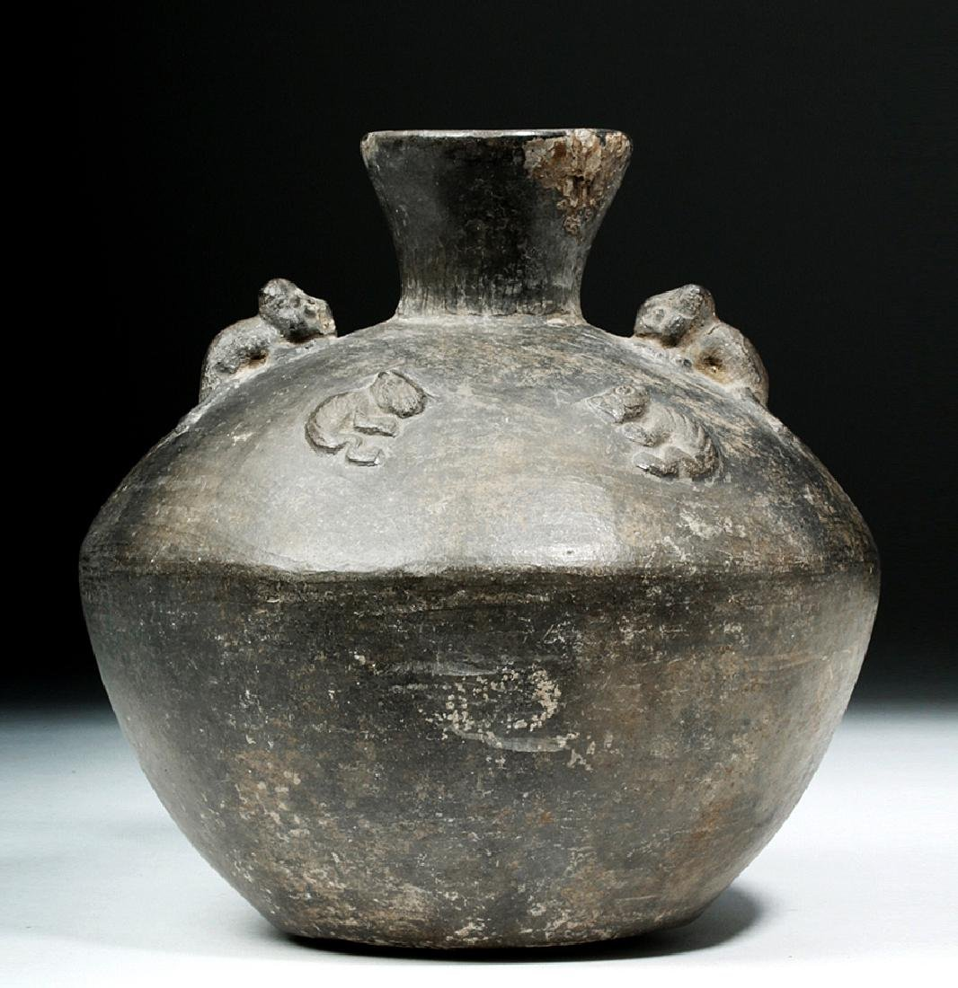 Chimu Pottery Jar w/ Caziques & Jaguars