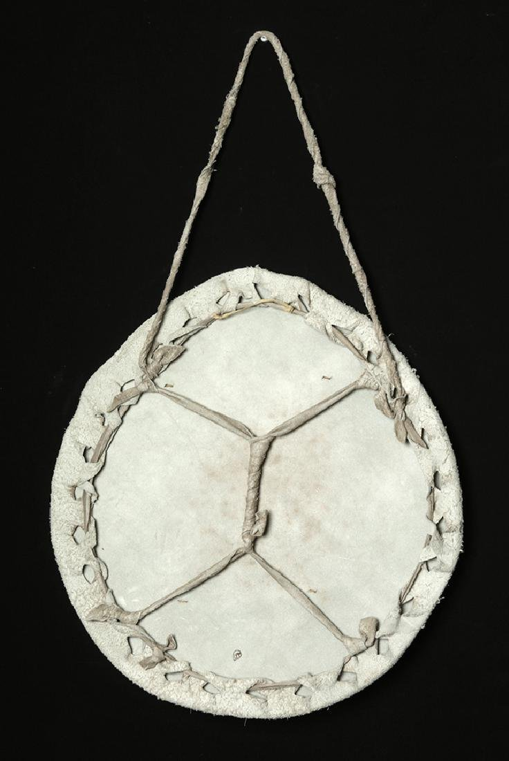 "Early 20th C. Plains Deer Hide ""Shield"" - Standing Deer - 3"