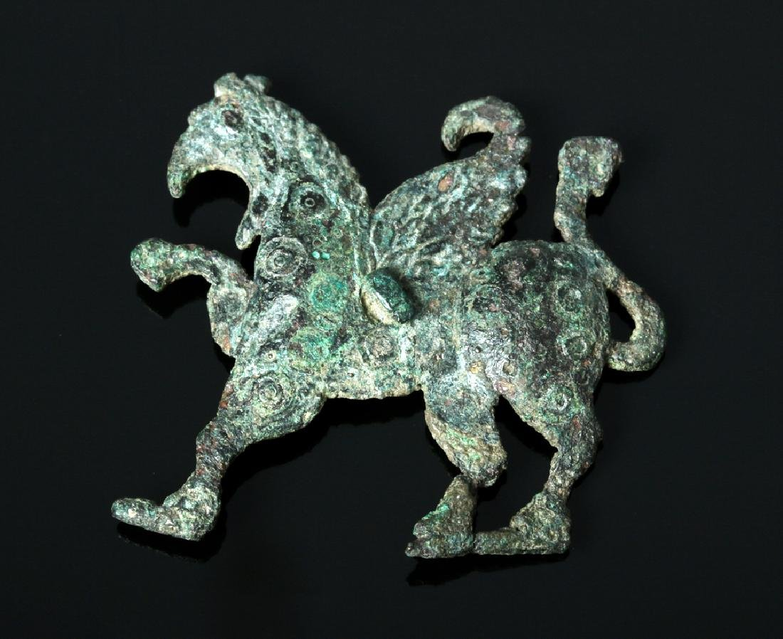 Greek Bronze Applique - Griffin Form