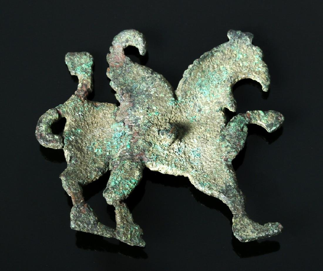 Greek Bronze Applique - Griffin Form - 2