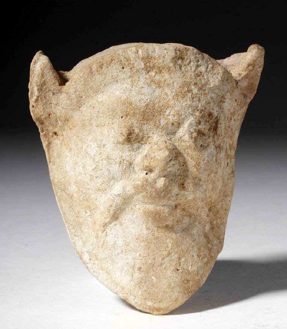 Greek Pottery Applique of a Satyr