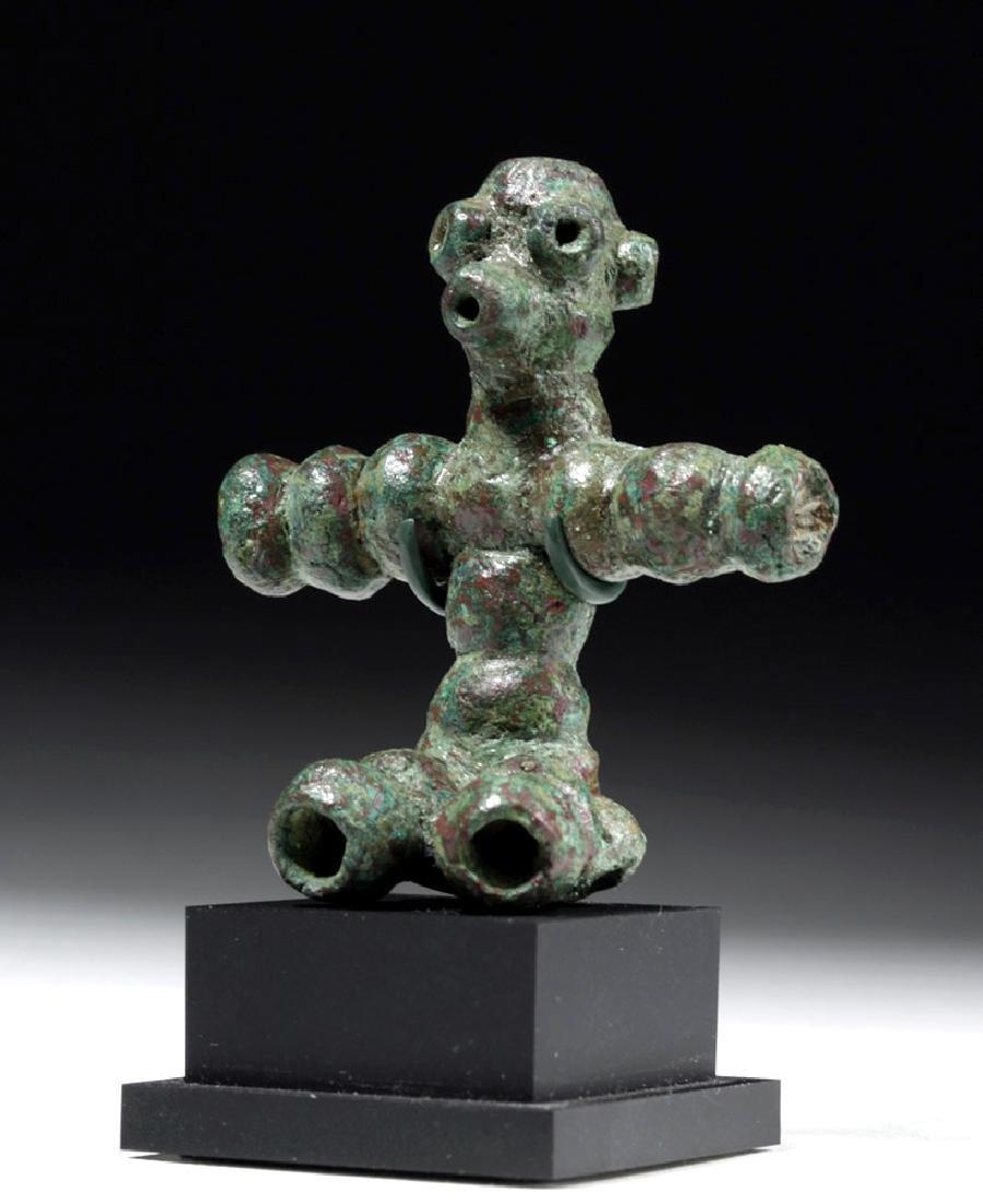 Rare Anatolian Anthropomorphic Bronze Idol