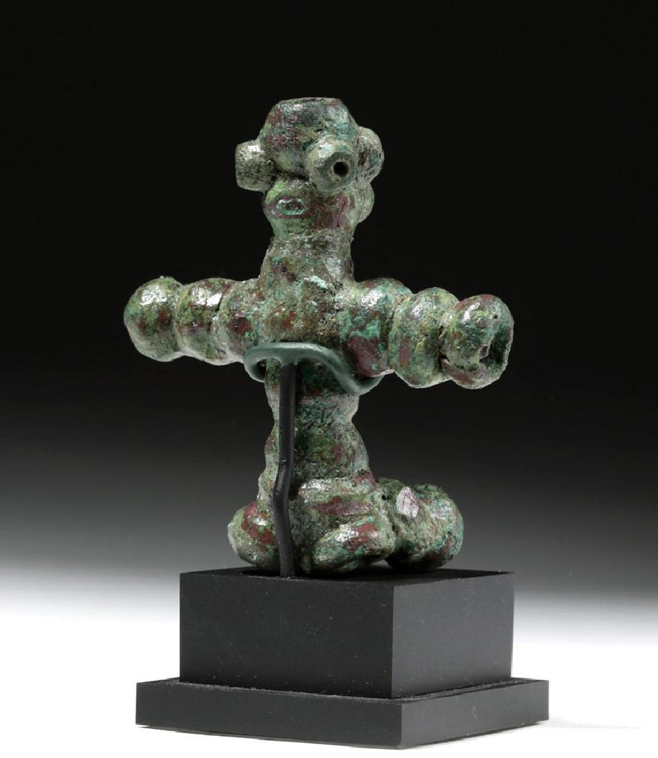 Rare Anatolian Anthropomorphic Bronze Idol - 3