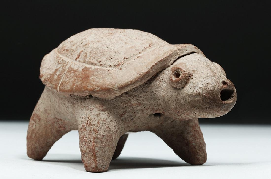 Colima Pottery Whistle - Turtle Form - 5