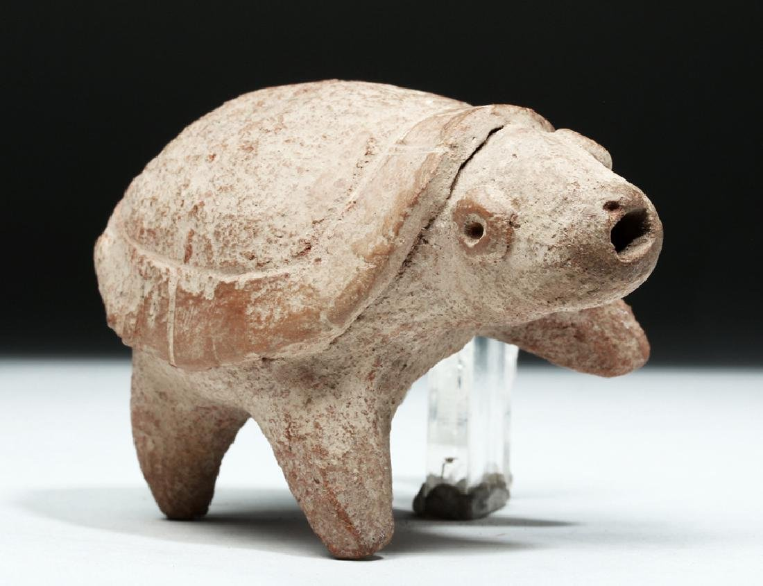 Colima Pottery Whistle - Turtle Form - 7