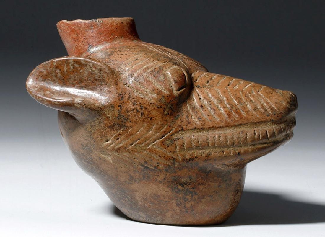 Colima Redware Vessel - Dog Head Form