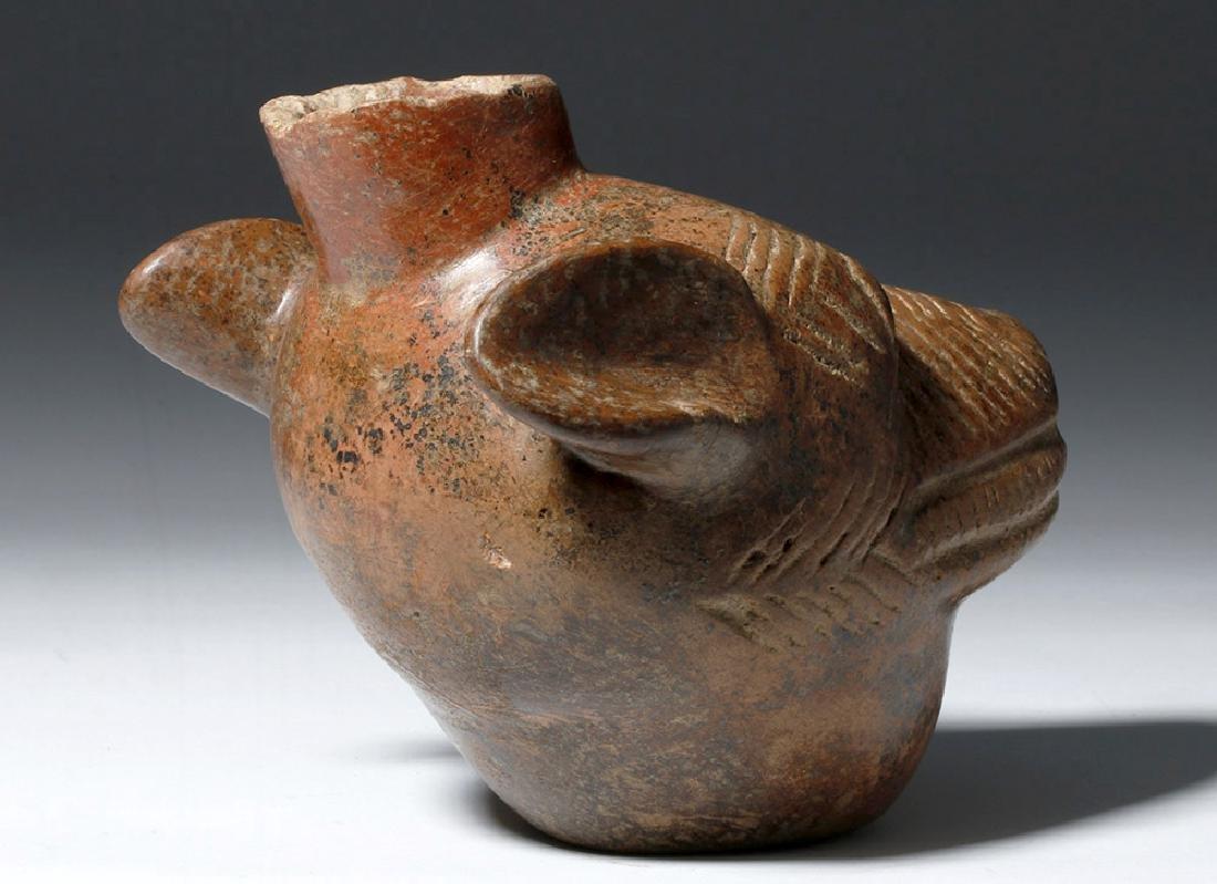 Colima Redware Vessel - Dog Head Form - 3