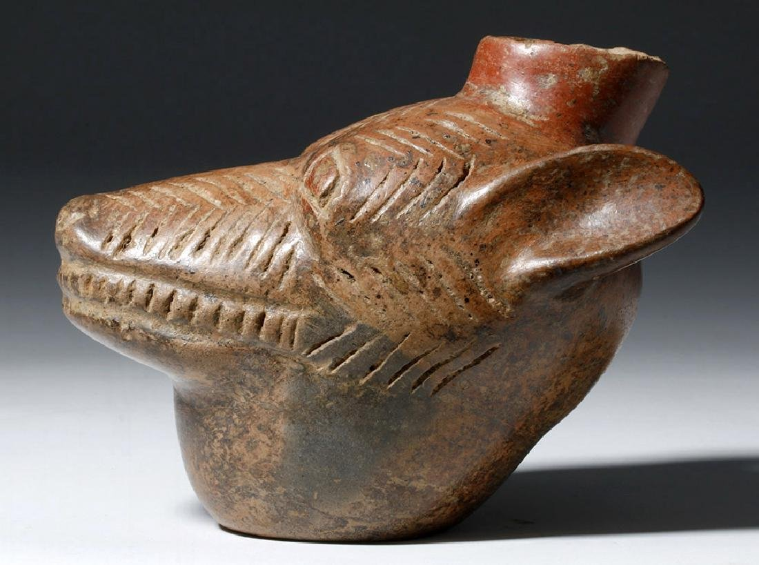 Colima Redware Vessel - Dog Head Form - 5