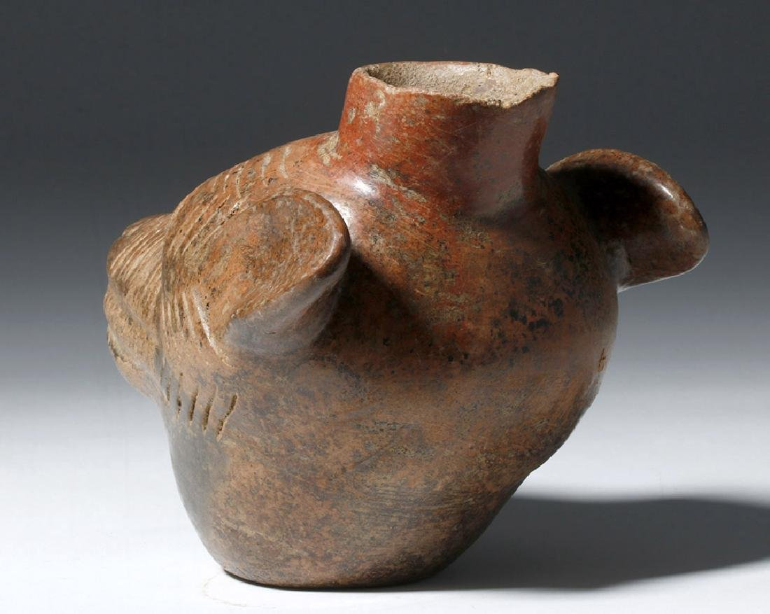 Colima Redware Vessel - Dog Head Form - 6