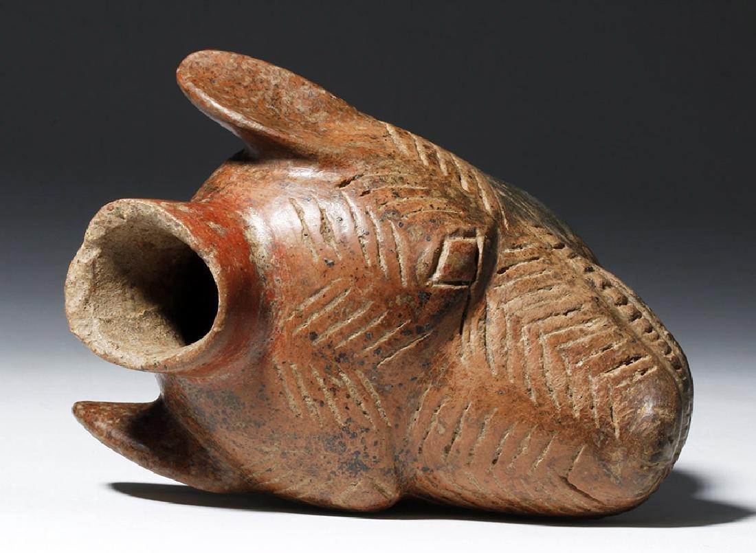 Colima Redware Vessel - Dog Head Form - 7