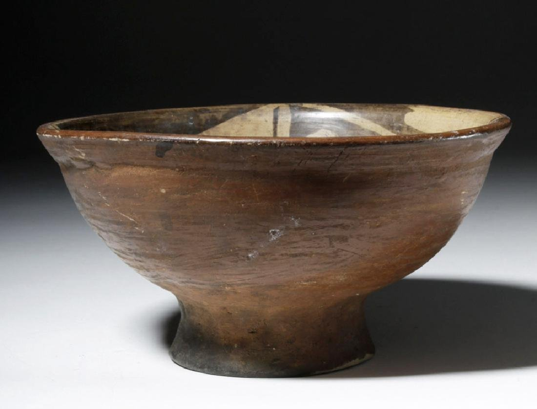 Narino Negative Resist Pottery Bowl w/ Abstract Animal - 4