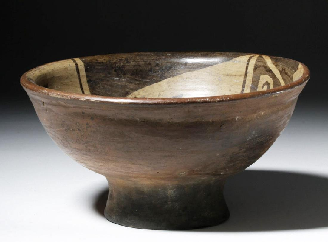 Narino Negative Resist Pottery Bowl w/ Abstract Animal - 5