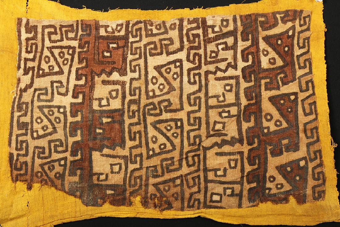 Pair of Ancient Chancay Textile Fragments - Zoomorphs - 2