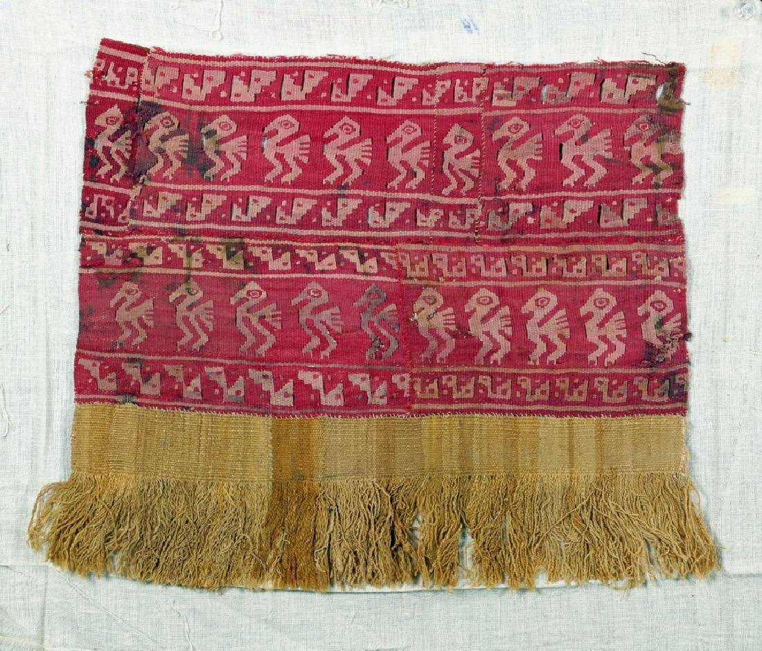 Chancay Woven Textile Panel w/ Birds