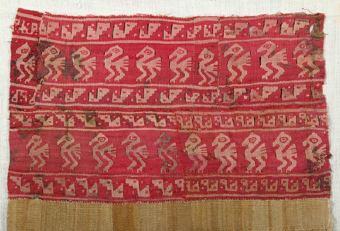 Chancay Woven Textile Panel w/ Birds - 2