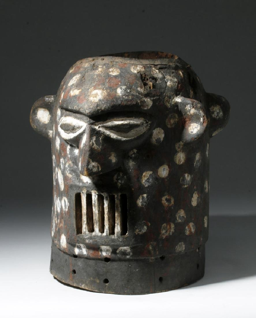 20th C. Yoruba Anthropomorphic Janiform Helmet Mask
