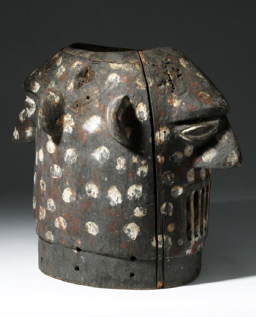 20th C. Yoruba Anthropomorphic Janiform Helmet Mask - 2