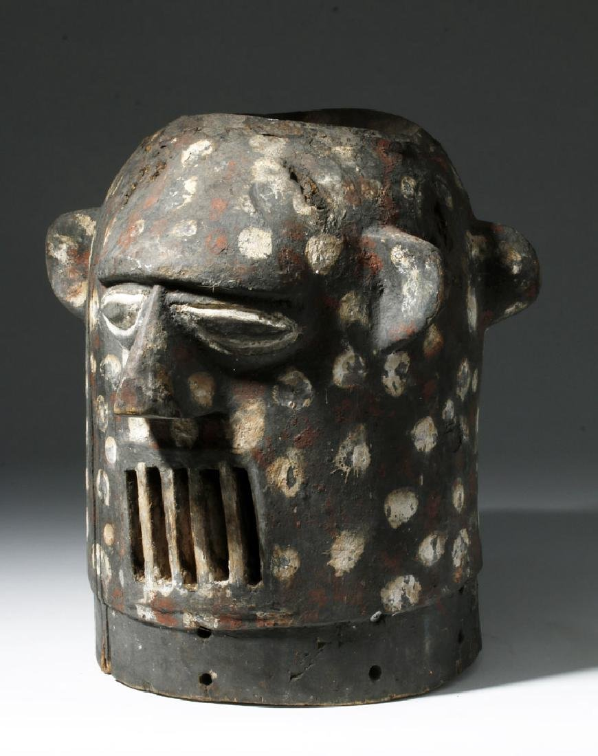 20th C. Yoruba Anthropomorphic Janiform Helmet Mask - 3