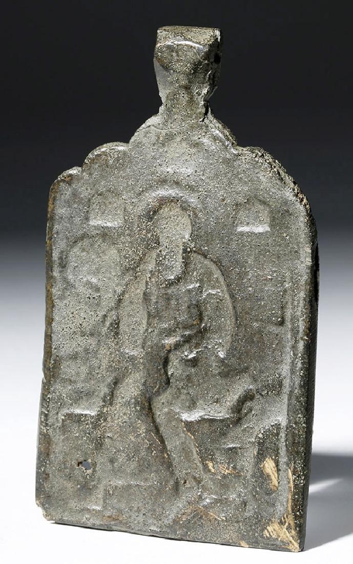 17th C. Russian Bronze Chest Icon  - St. John Theolgian - 4