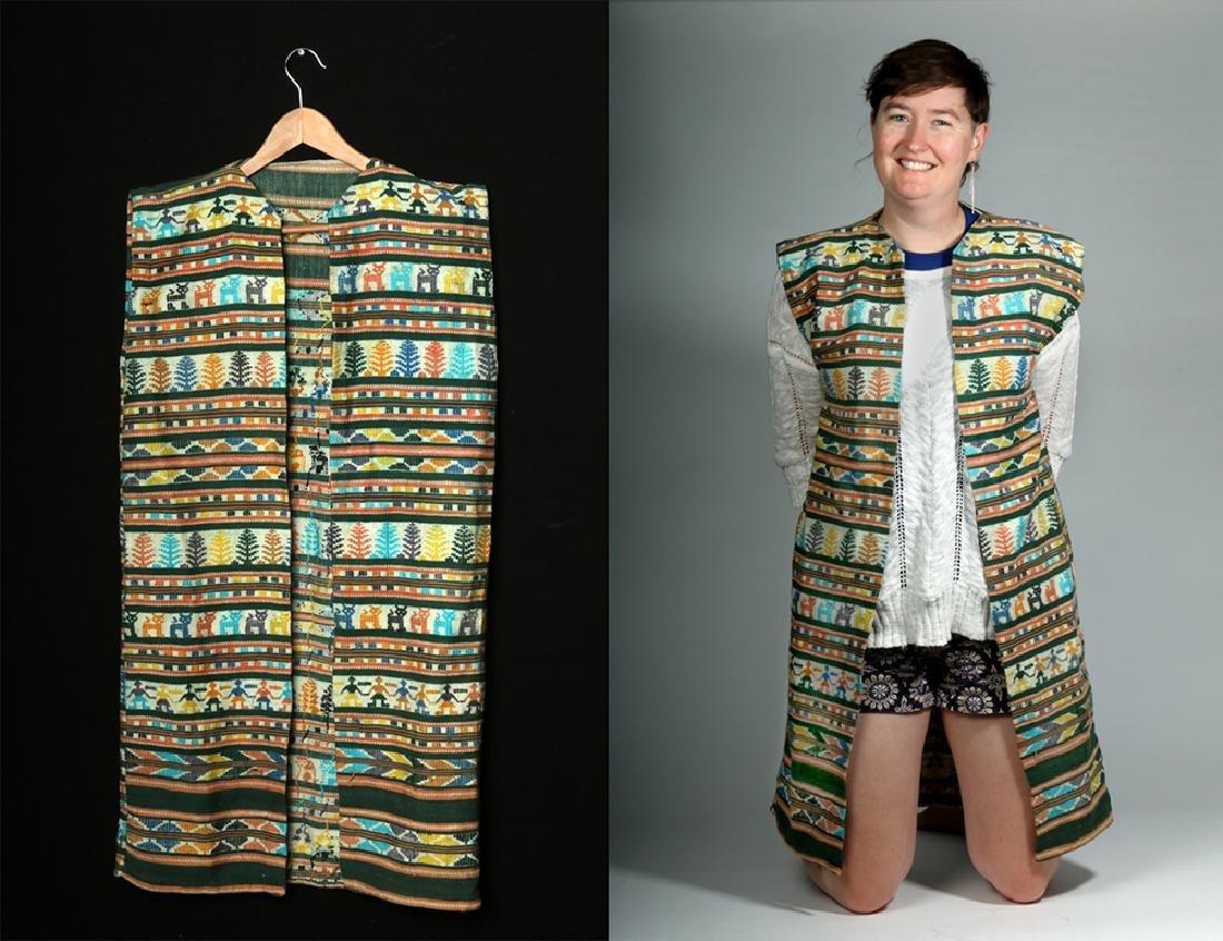 Early 20th C. Mexican Woven Textile Serape / Garment