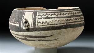 Chancay Bi-Chrome Pottery Bowl - Bird Appliques