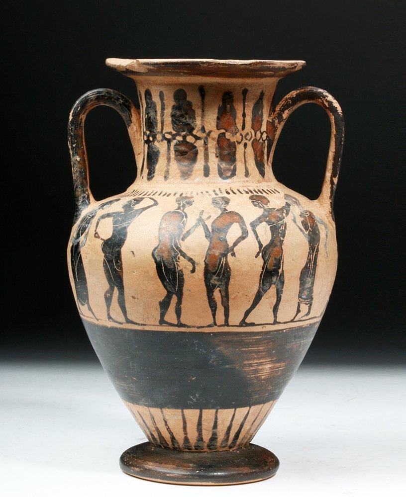 & Greek Attic / Euboean Black-Figure Neck Amphora
