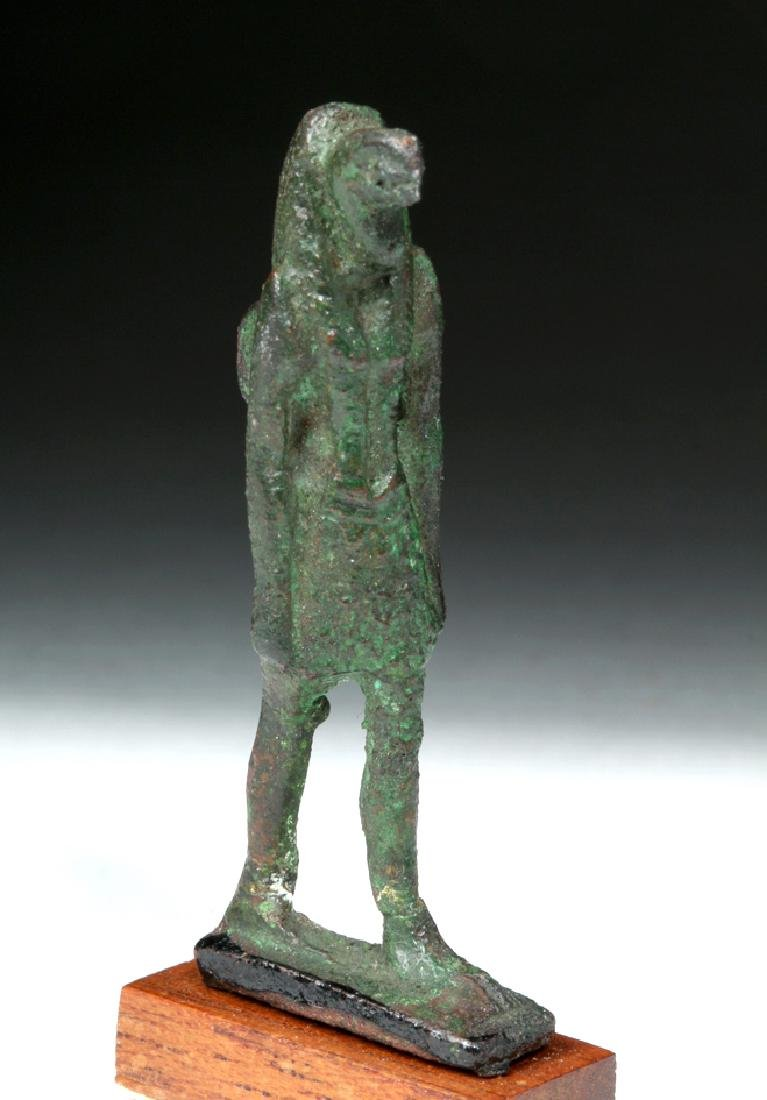 Egyptian Bronze Striding Nehebkau Serpent-Headed Deity