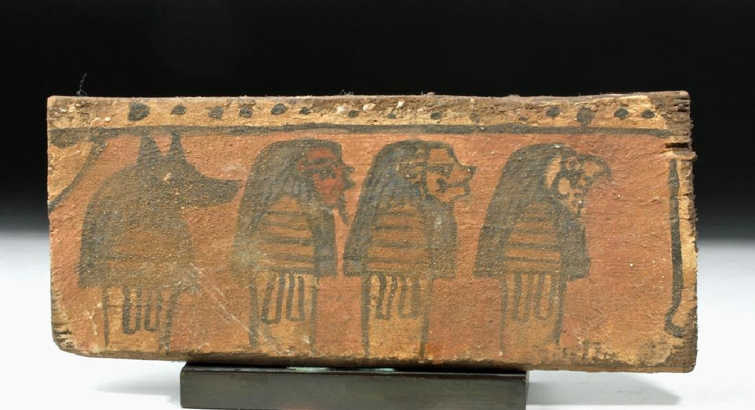 Egyptian Wooden Panel w/ Sons of Horus