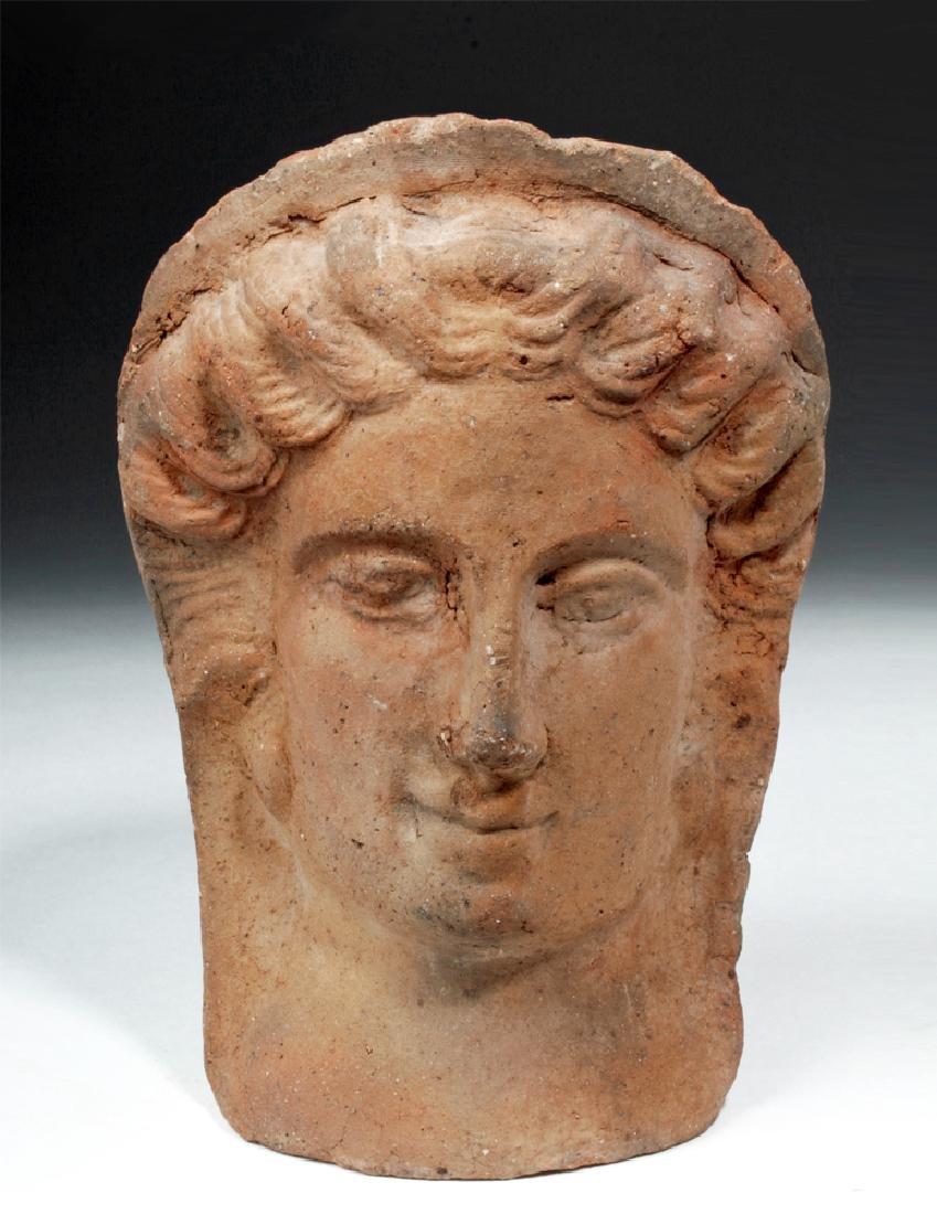 Etruscan Terracotta Votive Female Head