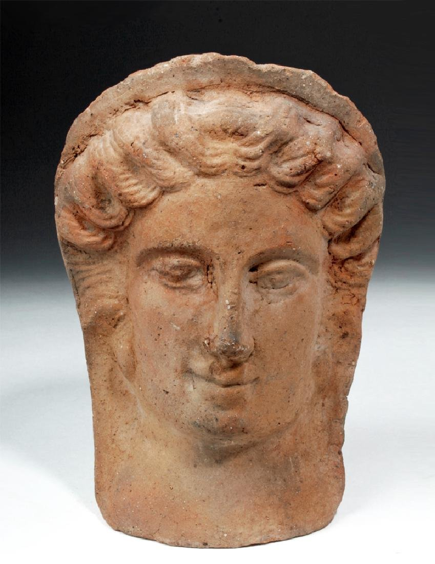 Etruscan Terracotta Votive Female Head