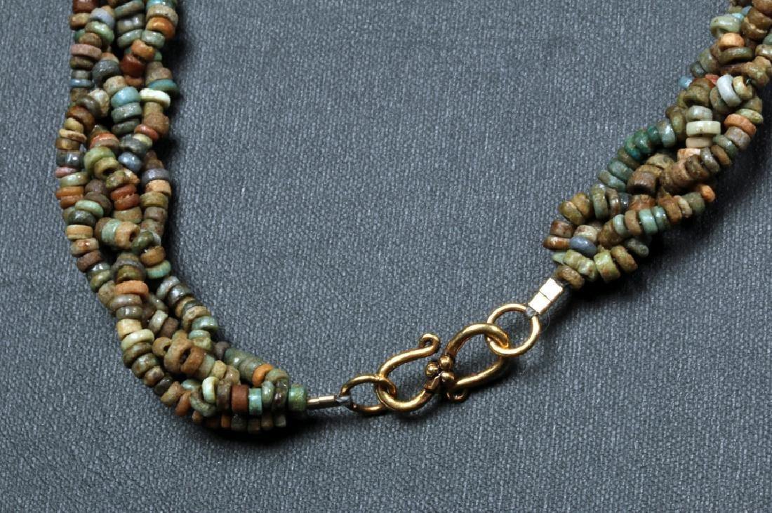 Stunning Egyptian Faience Beaded Necklace - 4