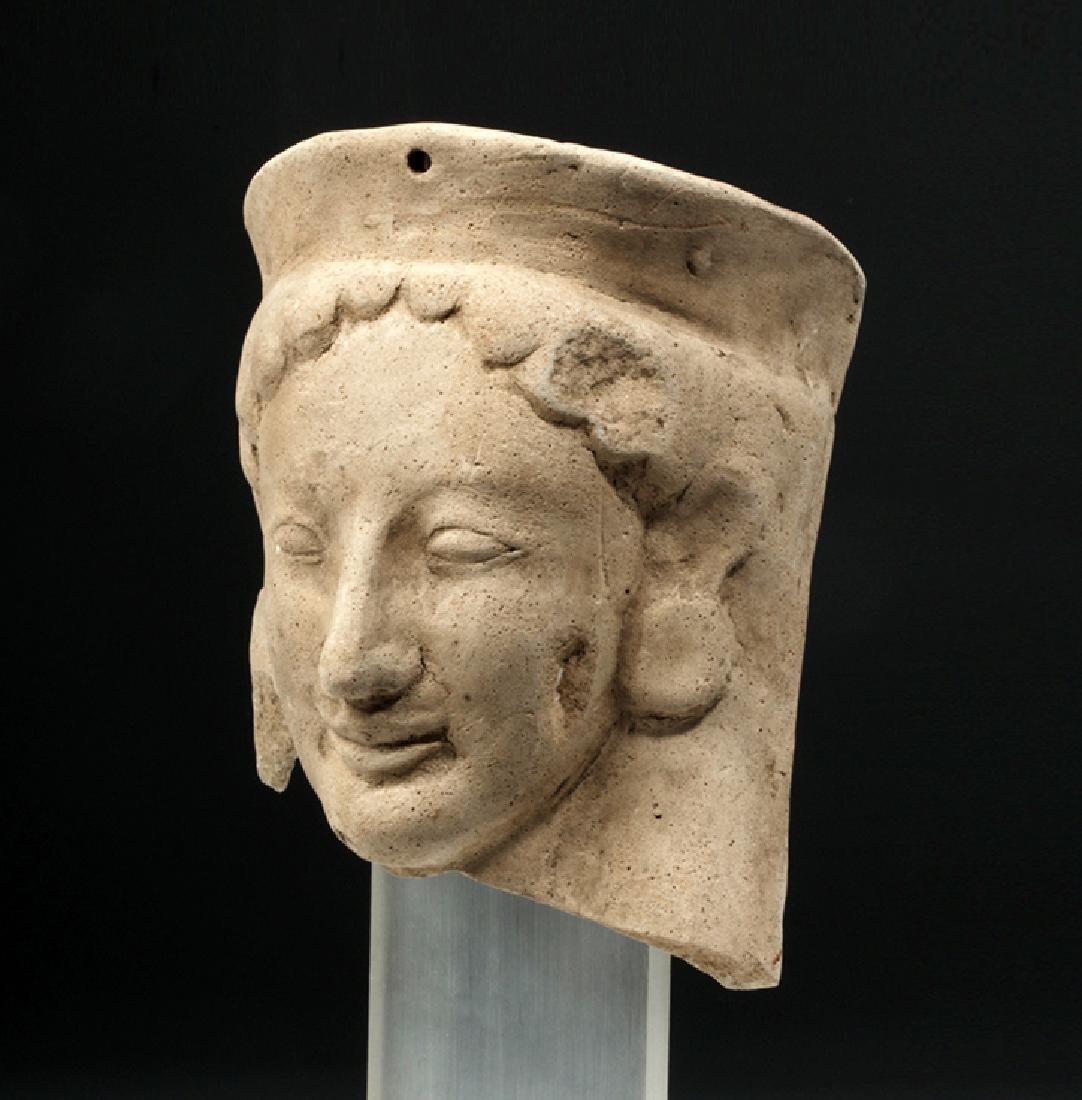 Fine Archaic Greek Earthenware Protome of Goddess - 2