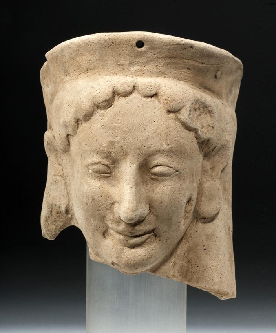 Fine Archaic Greek Earthenware Protome of Goddess - 5