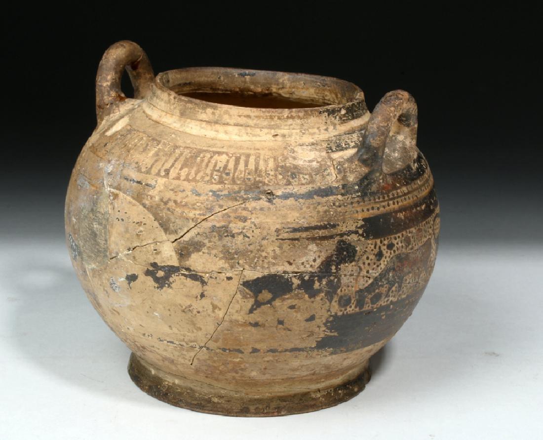 Corinthian Pottery Twin-Handled Jar w/ Animal Freize - 3