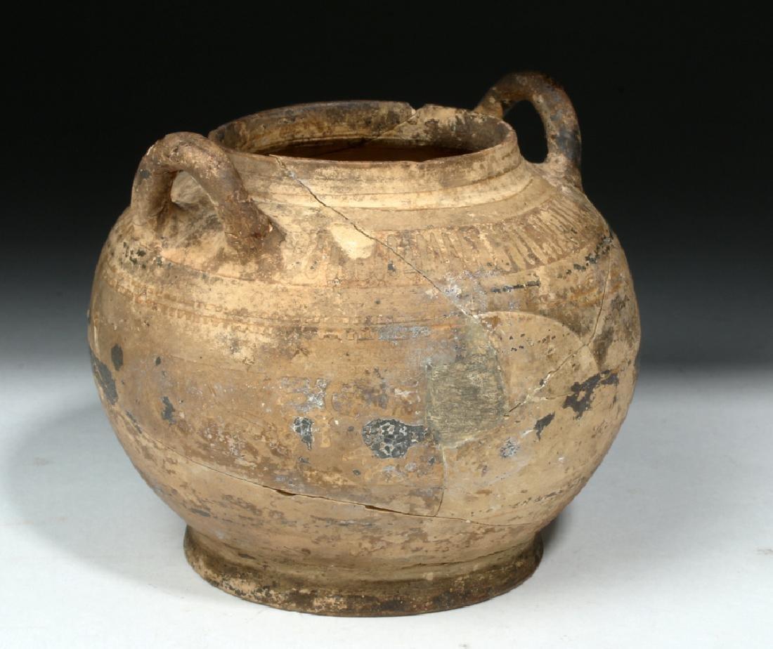 Corinthian Pottery Twin-Handled Jar w/ Animal Freize - 4