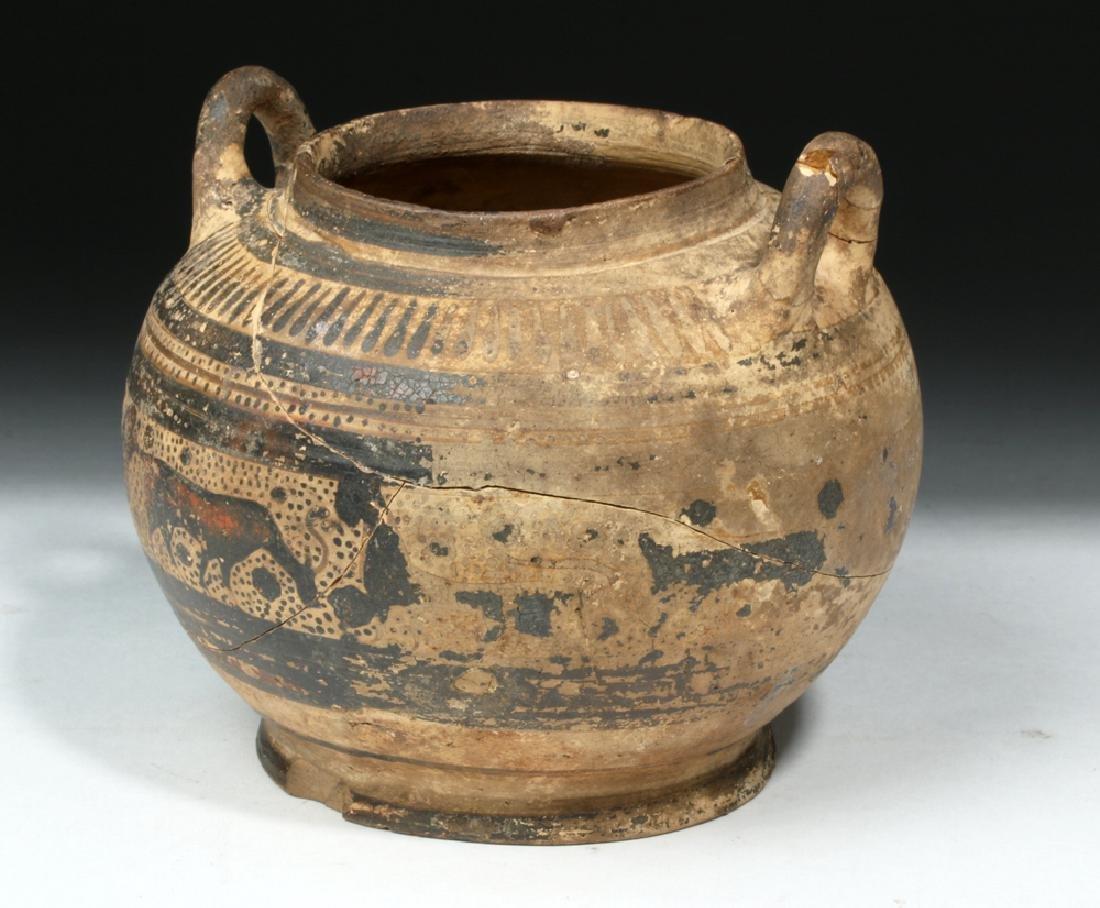 Corinthian Pottery Twin-Handled Jar w/ Animal Freize - 5