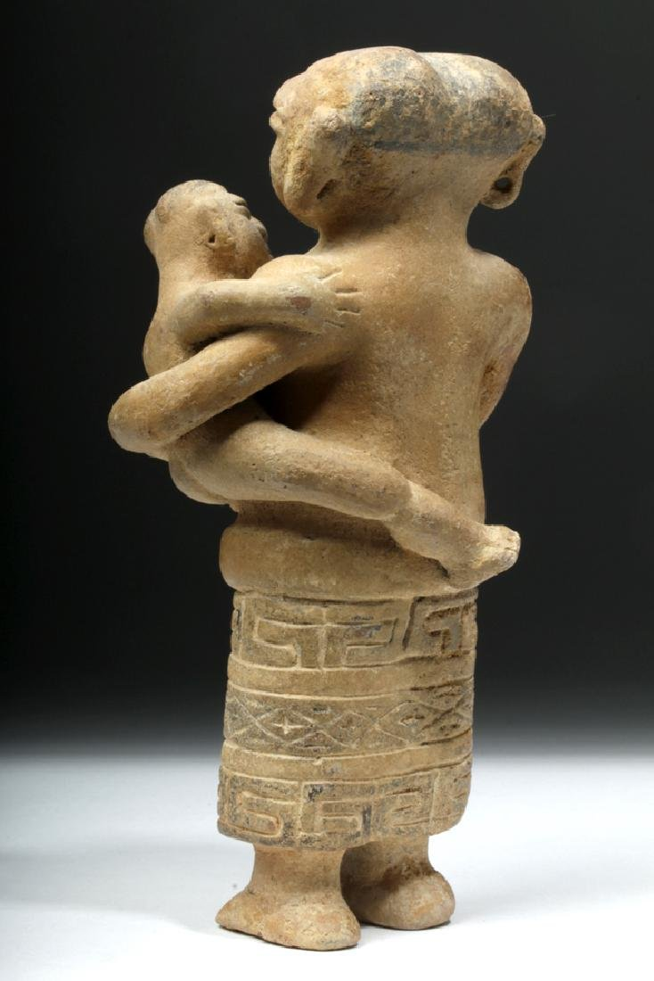 Rare Sinu Pottery Mother & Child Statue - 3