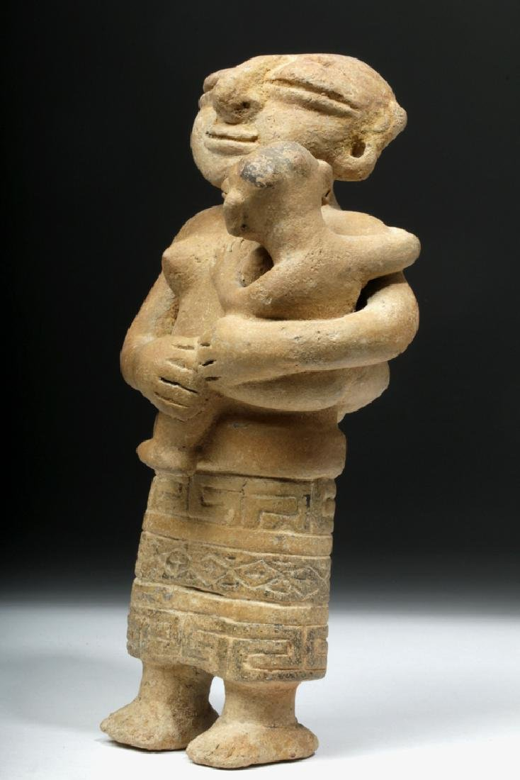 Rare Sinu Pottery Mother & Child Statue - 5